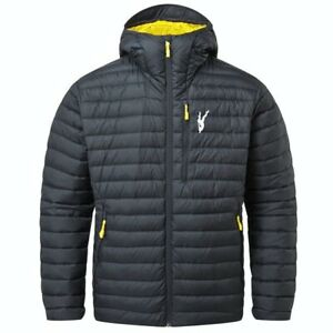 Mens Bubble Hooded Jacket Plain Quilted Zip Up Puffer Padded Winter Coat Outwear