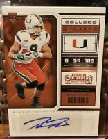 2018 Panini Contenders Draft Picks #282 College Ticket Braxton Berrios Auto Card