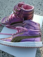 4045d3b80aa5 PUMA womens 7 sky II hi reset contact hightop sneakers prism pink gold