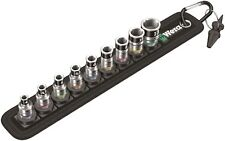 "Wera Belt 1 Zyklop 1/4"" Socket Belt Set With Holding Function Metric 05003880001"