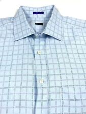 Paul Smith London Blue Check Luxury French Cuff Dress Shirt 16.5 / 42 Italy