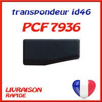 Transpondeur d'antidémarrage PCF7936 id46 pour Peugeot Citroen