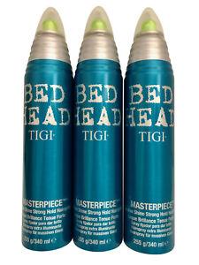 TIGI Bed Head Masterpiece Shine Hairspray 11.49 OZ Set of 3