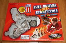Evel Knievel Super Stunt Cycle Set Very Rare Boxed Poof Slinky MINT & UNOPENED