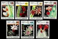 CACTUS FLOWER Cambodia 1990 year, used stamps set CTO