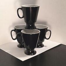 Shenango - Restaurant Ware - Pedestal Cup - Black / Ebony - FOUR - 4 - Interpace