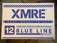 XMRE Blue Line MRE Case - 12 Meals Ready to Eat - Fresh - April 2020 Packing
