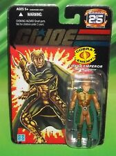 G I GI JOE 25TH ANNIVERSARY COBRA EMPEROR SERPENTOR FIGURE MOC