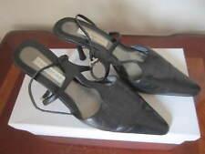 Women's Ann Marino Black Heels Pumps Leather Shoes. Size 6.5
