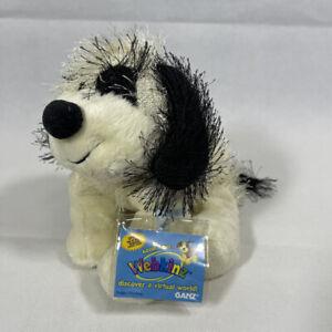 Ganz WEBKINZ BLACK & WHITE CHEEKY DOG STUFFED Plush Toy HM192 New UNUSED CODE