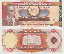 Haiti 20 Gourdes (2001) - L'Ouverture Commemorative/p271A UNC