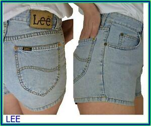 LEE shorts di jeans da donna a vita alta pantaloncini corti chiari in 40 42 44