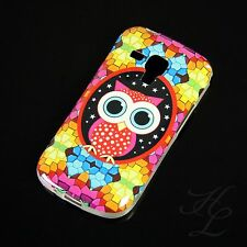 Samsung Galaxy S Duos S7562 Silikon Case Schutz Hülle Bumper Große Eule Owl Etui