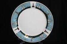Oneida Sailboats by Warren Kimble Dinner plate Blue Border Sailboats Lighthouses
