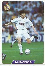 N°018 AMAVISCA # REAL MADRID OFFICIAL TRADING CARD MUDICROMO LIGA 1996