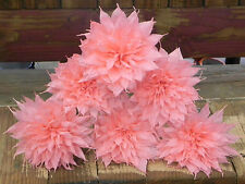 """Crepe Paper Flowers Set of 6- Light Pink Dalias. """"We Make Special Orders"""""""