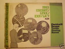 1983 Escort/Lynx/EXP/LN 7 Vacuum and Electrical Manual