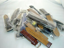 110 pcs Job Lot OF Genuine Quality Leather Watch Strap/Band + FREE SPRING BARS
