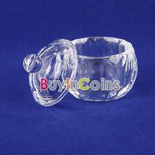 Nail Art Acrylic Crystal Dappen Dish Lid Bowl Cup Liquid Powder Container SACA