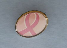Pink Ribbon Breast Cancer Awareness Button Pin