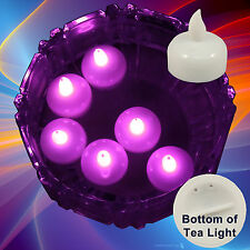 24 Flameless Floating Led tealight Candle Battery operated Pink tea lights New