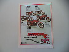 advertising Pubblicità 1980 MOTO MORINI 125/250/350/500