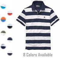 Timberland Men's Short Sleeve Pique Summer 100% Cotton Polo Shirt 8744J