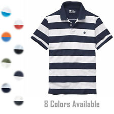 f2499b49 Timberland Men's Short Sleeve Pique Summer 100% Cotton Polo Shirt 8744J