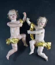 schönes  Paar Barockengel - 18/19 Jhd -   Holz geschnitzt & gefasst