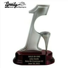 HOLE IN ONE TROPHY GOLF BALL HOLDER  FREE ENGRAVING     FAST SHIPPING