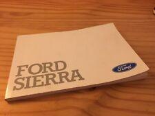 Ford Sierra manuel conducteur notice utilisation entretien livret de bord éd. 86