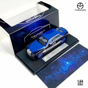 Time Micro 1/64 Model Car Rolls-Royce Phantom 8 Star Blue Alloy Die-Cast Vehicle