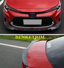 For 2020 Toyota Corolla Front bumper front lip+Tail Trunk Spoiler Wing Lip 4PCS