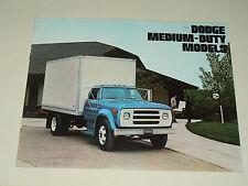 Prospectus Camion DODGE MEDIUM DUTY 1974 brochure Prospekt LKW Truck USA