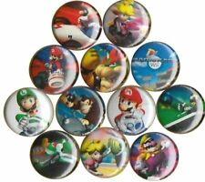 Mario Kart Double Dash set of 12 Buttons-Pins-Badges *Nintendo* Wii|N64|SNES|DS