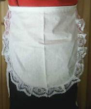 Childs waist apron ,waitress vintage Edwardian Victorian tudor,white lace detail