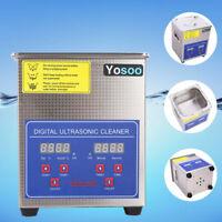 2L Digital Ultraschall Reinigungsgerät Reiniger Edelstahl Schmuck Gerät 50W GD