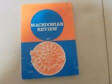 MACEDONIAN REVIEW 3: History~ Culture~ Literature ~Arts 1972