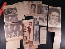 1930s Helen Richie & Helen MacCloskey Lot of 9 Newspaper Clippings 473
