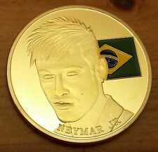 Neymar Jr Brazil Flag 2014 Gold Coin Real Madrid Man U C World Cup Legend Winner