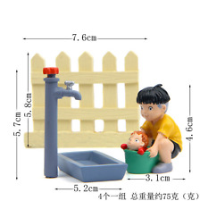 Cartoon Anime Ponyo on the Cliff Faucet Fence Bucket Figure Garden Decoration