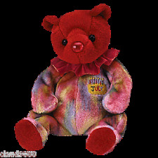 Ty Beanie Babies - July The Birthday Bear Toy . Included