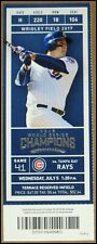 7/5/2017 Chicago Cubs vs Tampa Bay Rays Ticket Anthony Rizzo Jon Jay Ian Happ