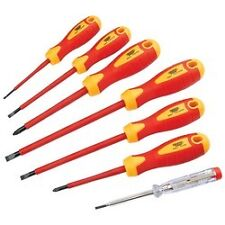 Universal 7 Piece Fully Insulated Screwdriver Set With Mains Tester