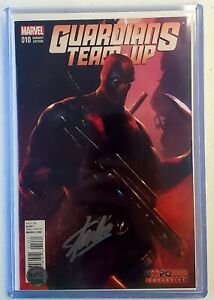Guardians Team Up 10 Gamestop Expo Signed By Stan Lee With COA DEADPOOL VARIANT