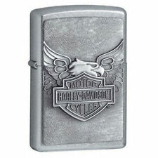 Zippo Harley Davidson Street Chrome Lighter With Emblem, 20230, New In Box