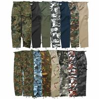 MIL-TEC MENS US BDU TROUSERS COMBAT CARGO TOUGH ARMY WORK UNIFORM