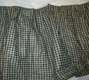 "NEW - ECHO King Bedskirt Black Tan 50/50 Cotton Poly 13"" Drop Heavy Quality NWOP"