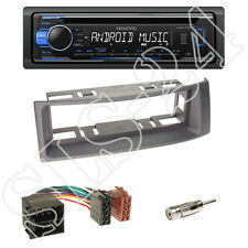Kenwood KDC-110UB Radio + Renault Megane / Scenic Blende grau + ISO-Adapter