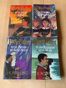 lot 4 livres HARRY POTTER tomes 4 5 6 7 - éditions grand format Gallimard EO